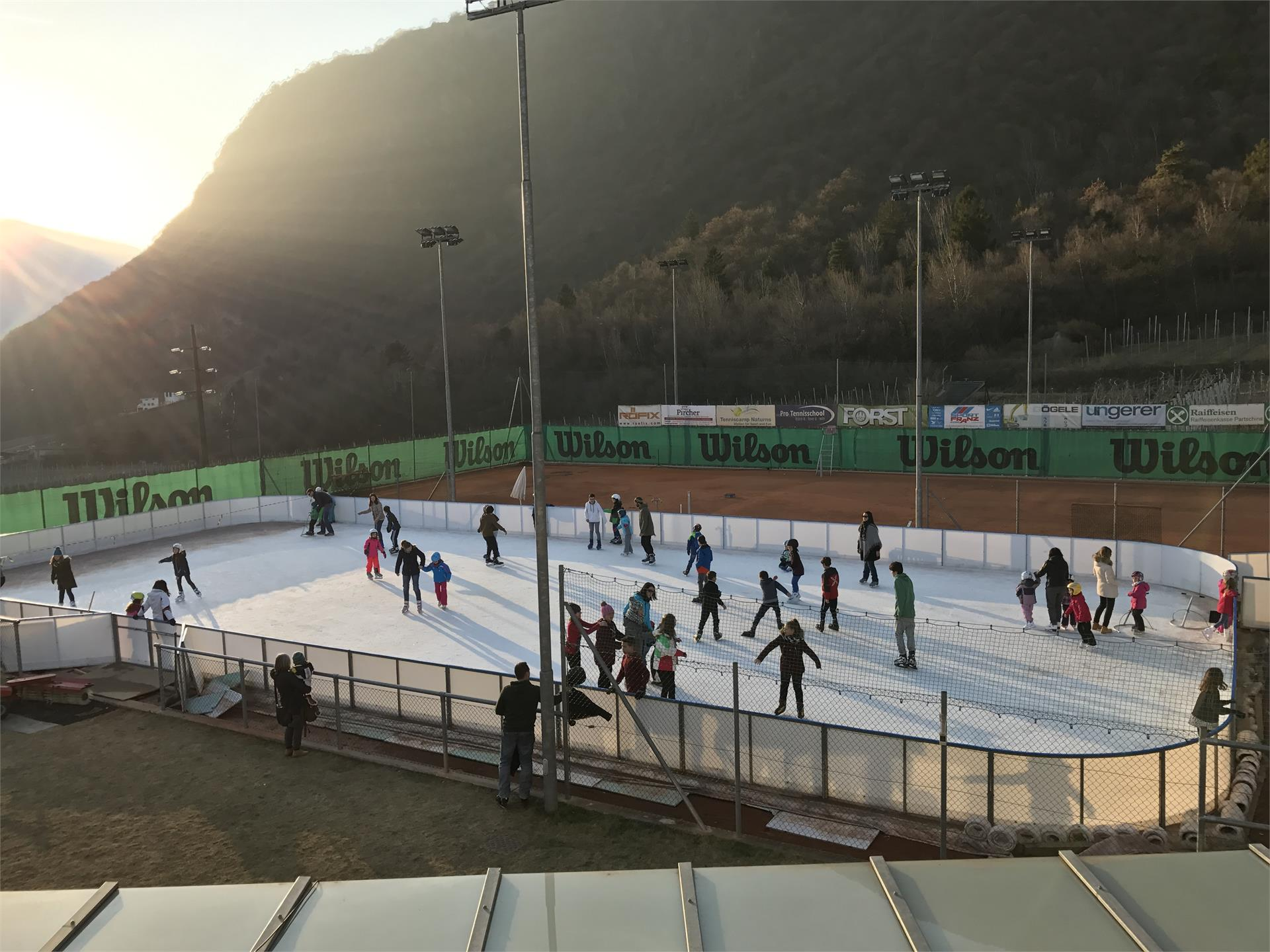 Ice skating in Partschins