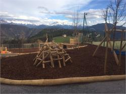 Children`s playground - centre of the village San Genesio/Jenesien