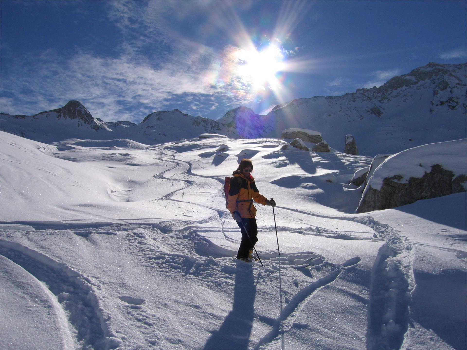 Skitour im hochalpinen Pulverschnee