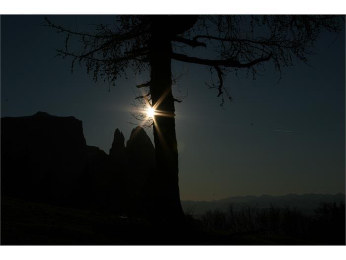 Sonnenuntergang- Hieblerhof, Völs am Schlern