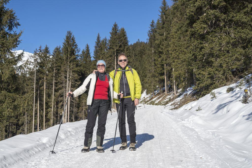 Winter walking tour to the Karbach Valley a S. Martino