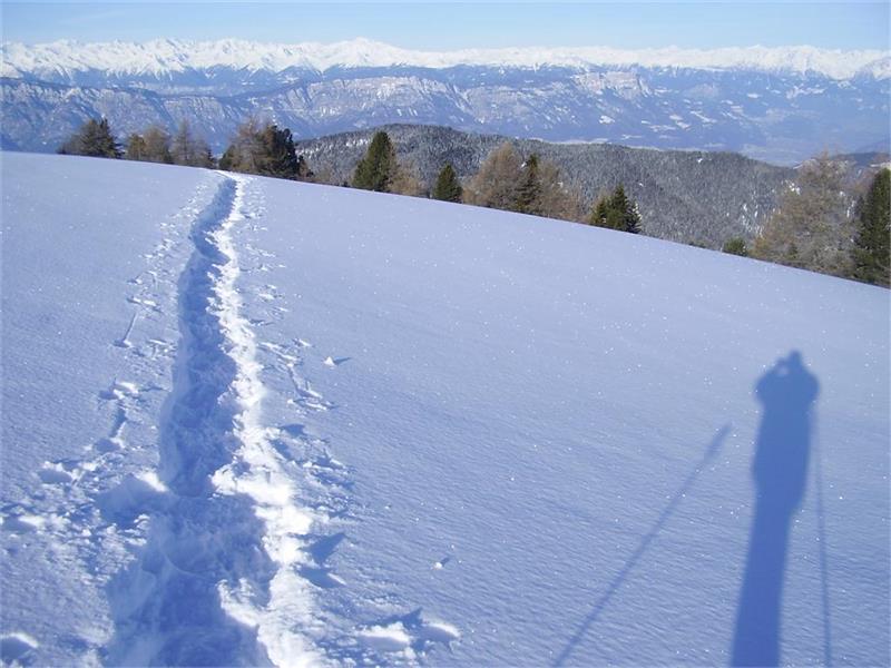 Schneeschuhwanderung Richtung Weißhorn
