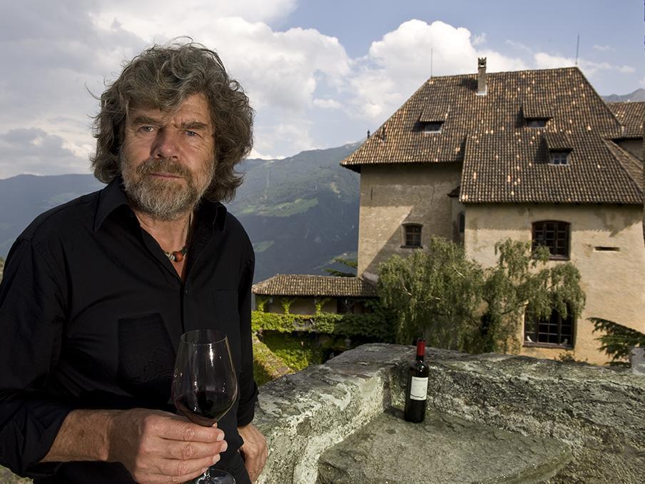 Con Rainhold Messner a Juval