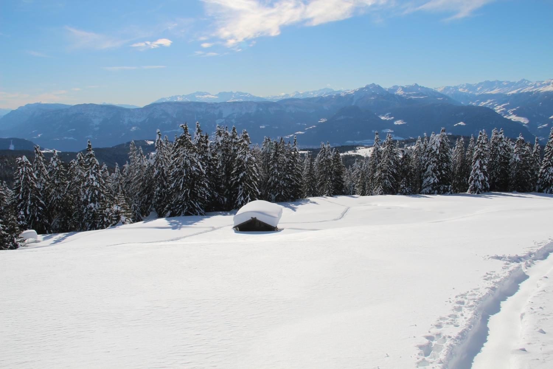 Winterliche Drei-Almen-Rundwanderung
