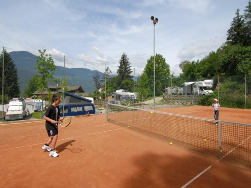 "Tennis courts  by Camping ""Ganthaler"""