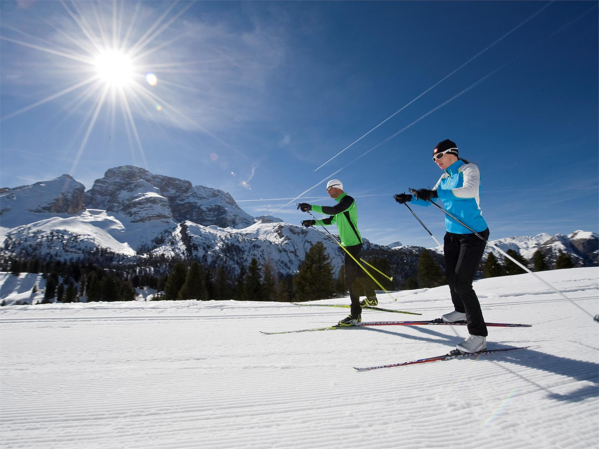 Cross-country-skiing at Braies