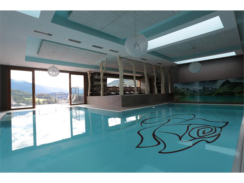 panoramic indoor pool on the 7th floor with rooftop terrace