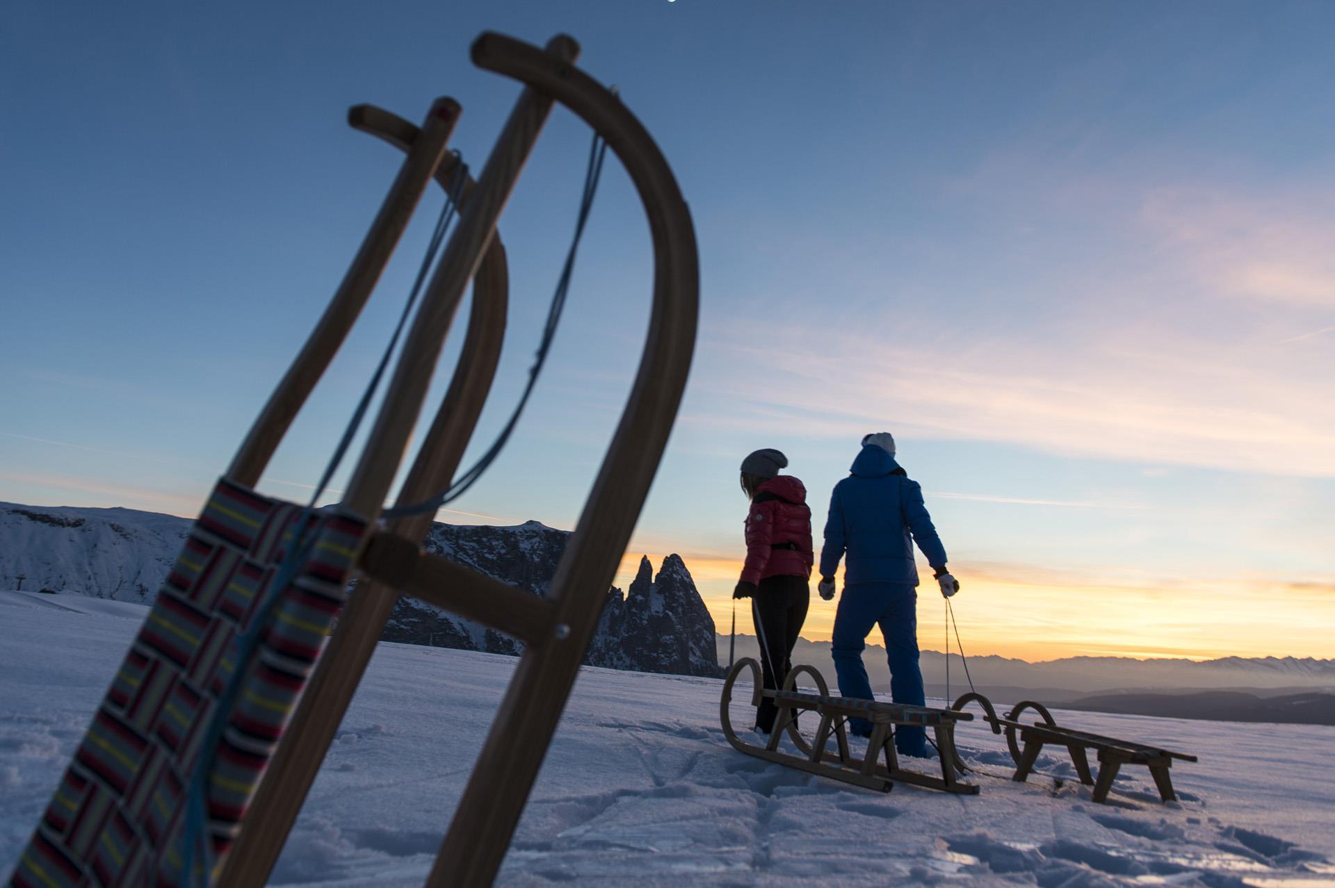 Pista da slittino Spitzbühl sull'Alpe di Siusi