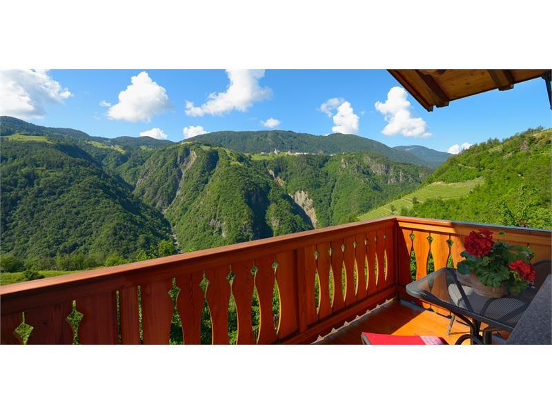 Vista dal balcone, Prackfolerhof- Fié allo Sciliar