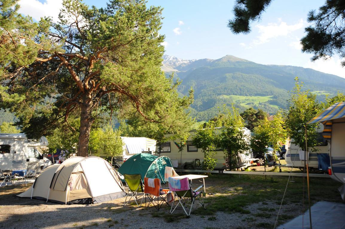 Piazzole al sole e con ombra nel Campeggio Kiefernhain