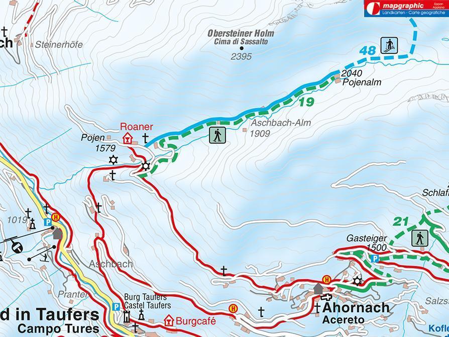 Snowshoe hike Pojeralm Acereto/Ahornach