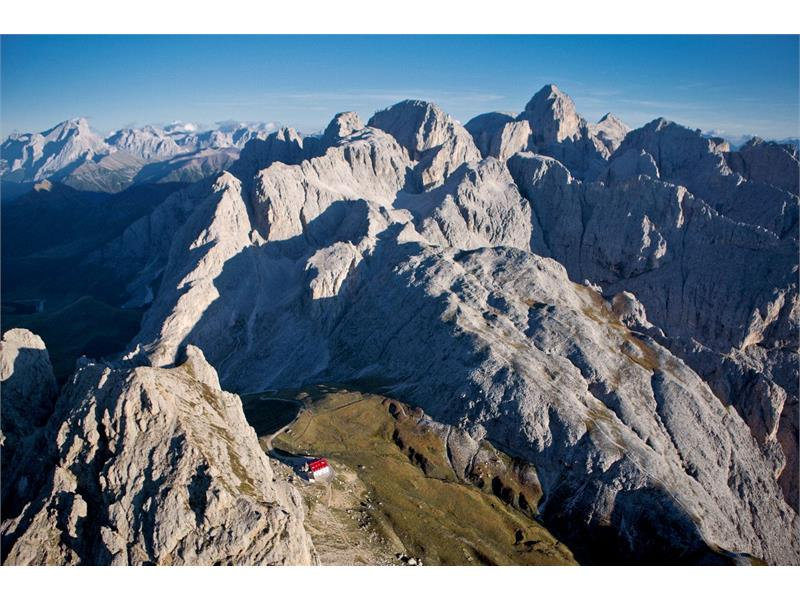Mountain hut Alpe di Tires
