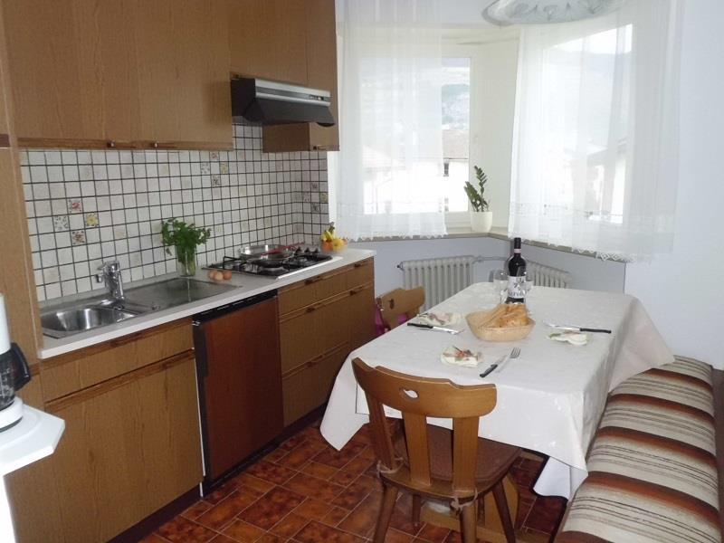 Küche im Appartement Alpenrose