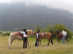 Riding in Tubre in Val Monastero