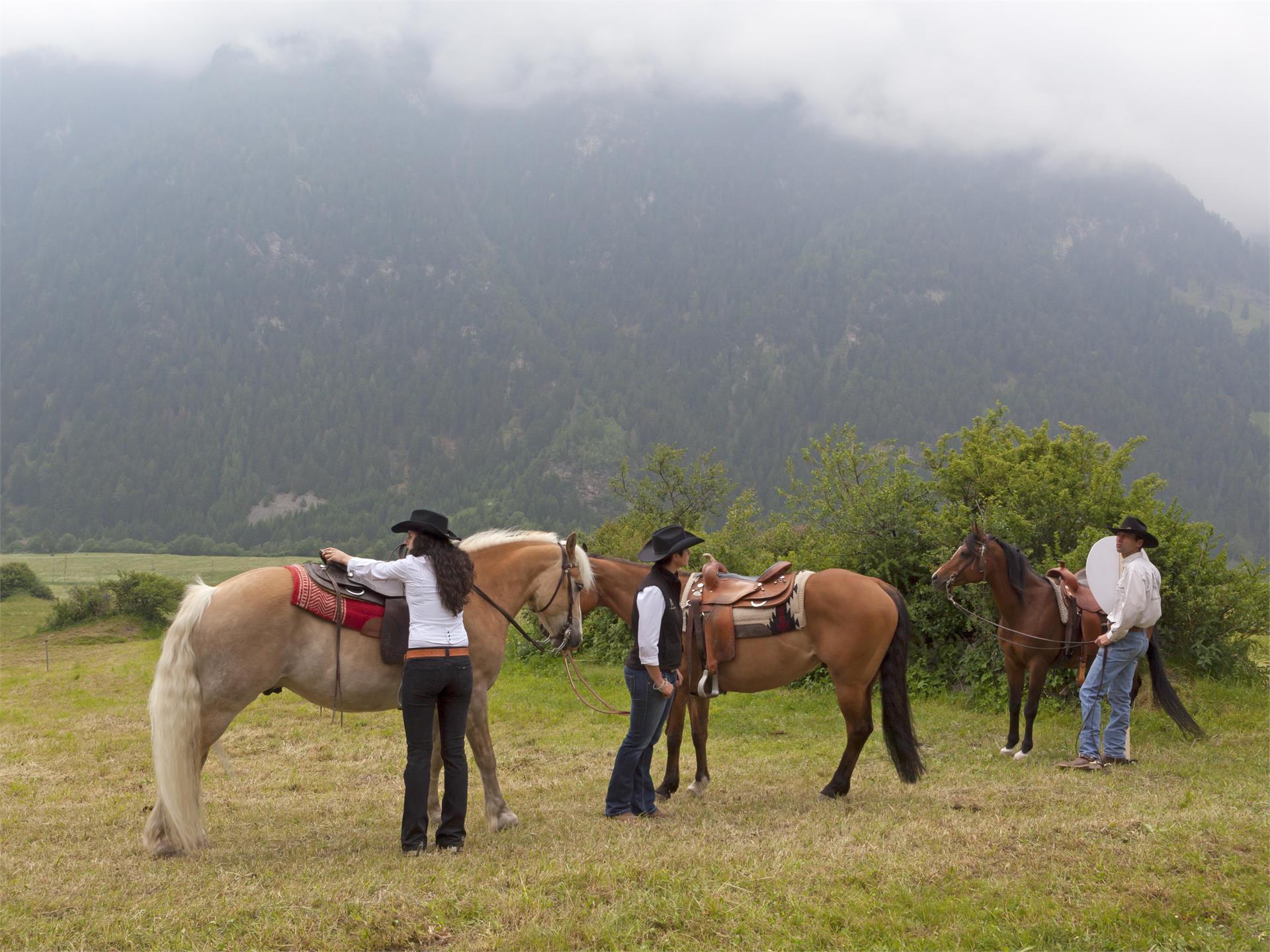 Equitazione in Tubre in Val Monastero
