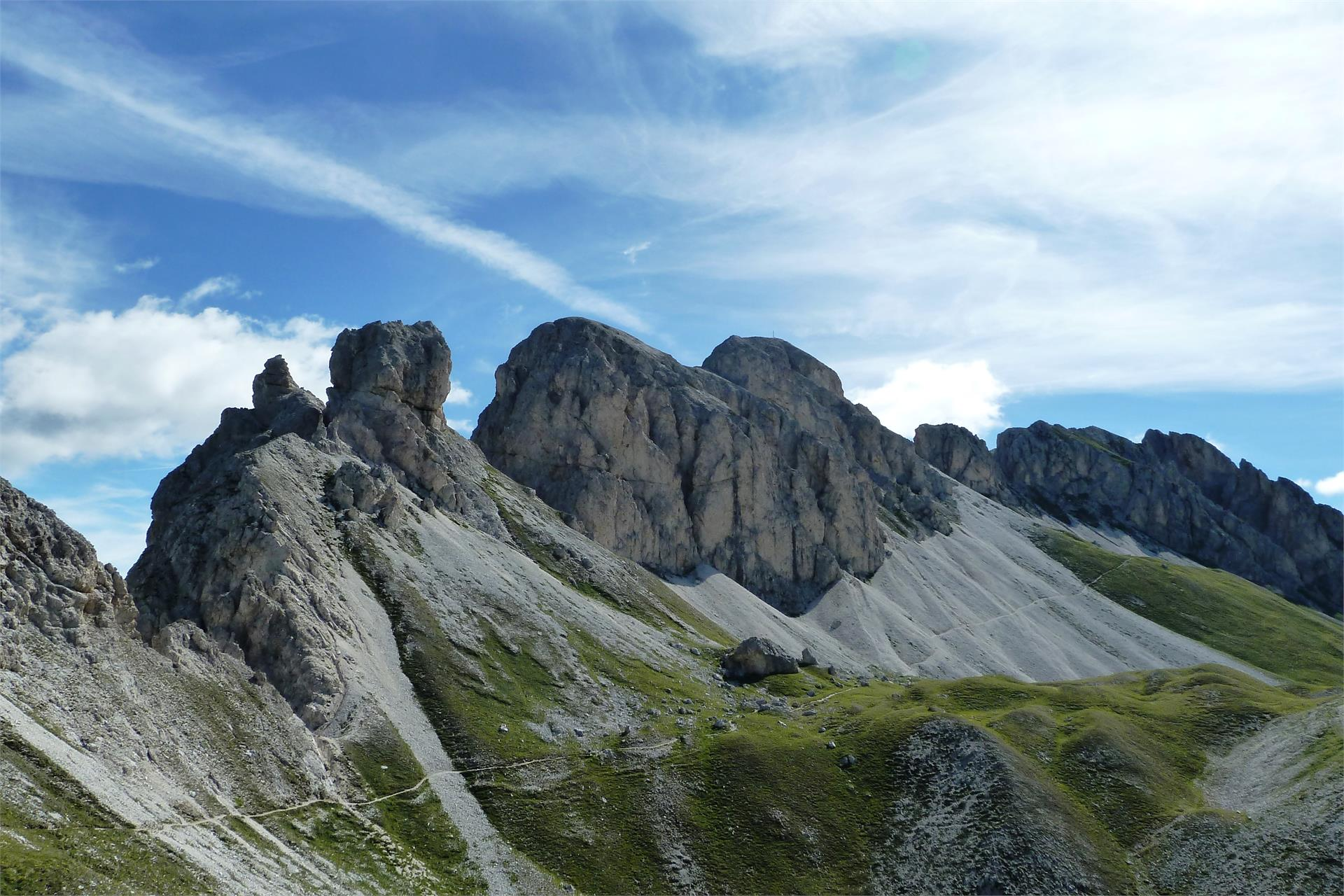 Trek to the dolomite peak of Monte Rovina