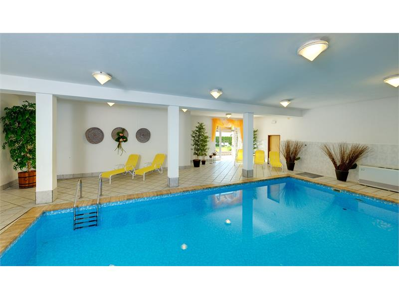 Indoor pool with access to the lawn