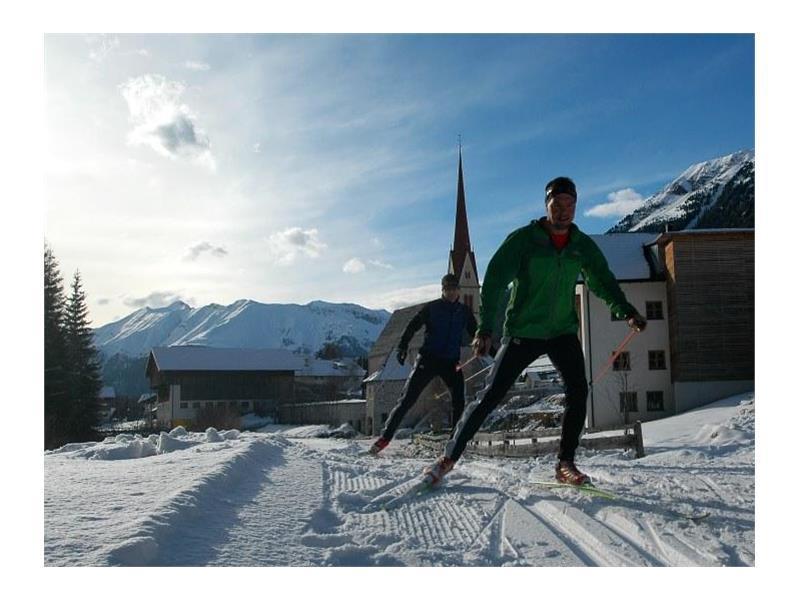 Langlauf im Pensertal, Sarntal, Südtirol