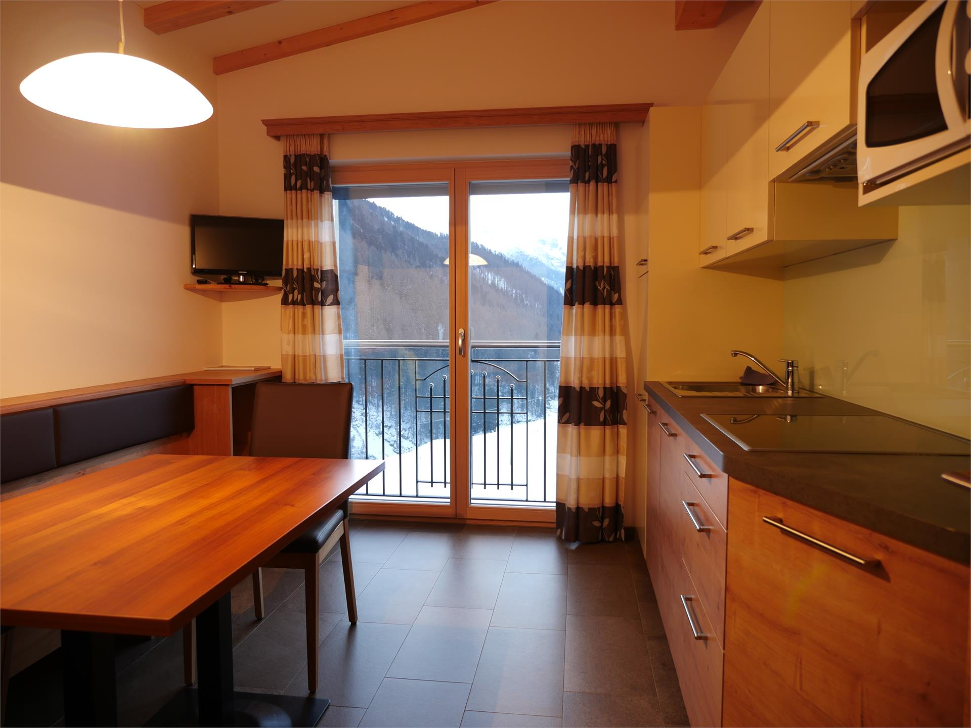 cucina appartamento sottotetto