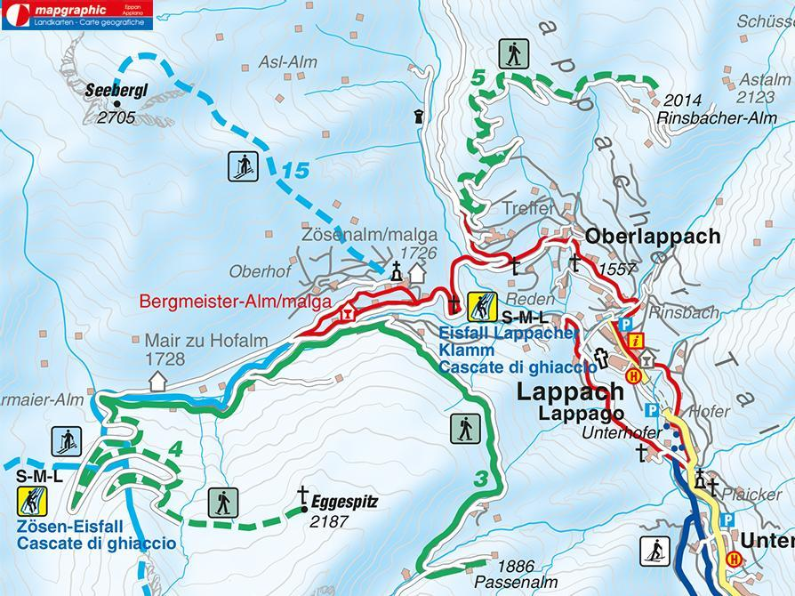 Snowshoe hike Rinsbachalmen Lappago/Lappach