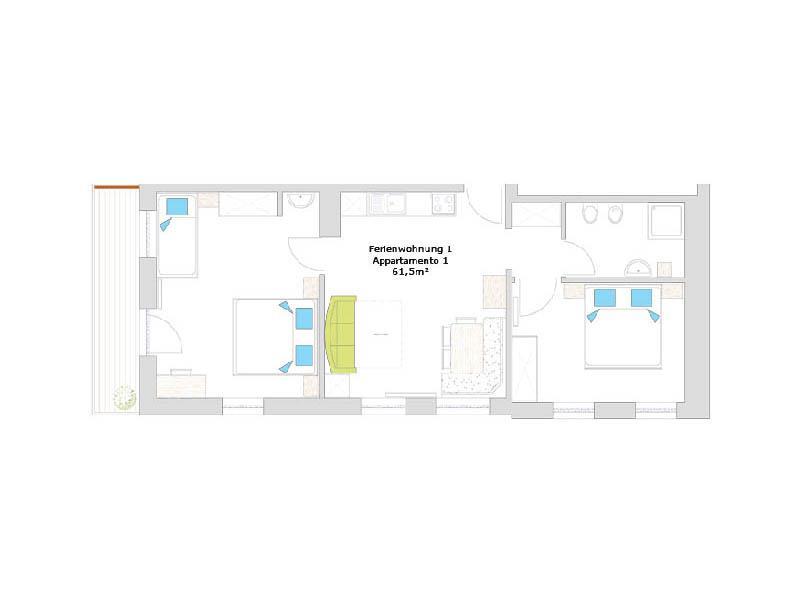 Appartement 1 GROSSER MOOSSTOCK