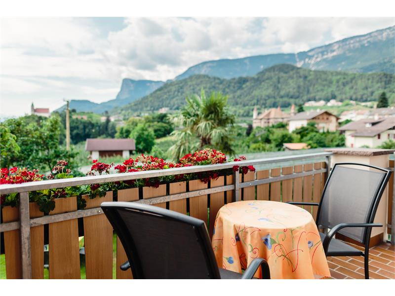 Room with balcony and view on Castel Fahlburg and St. Martin until the Dolomites