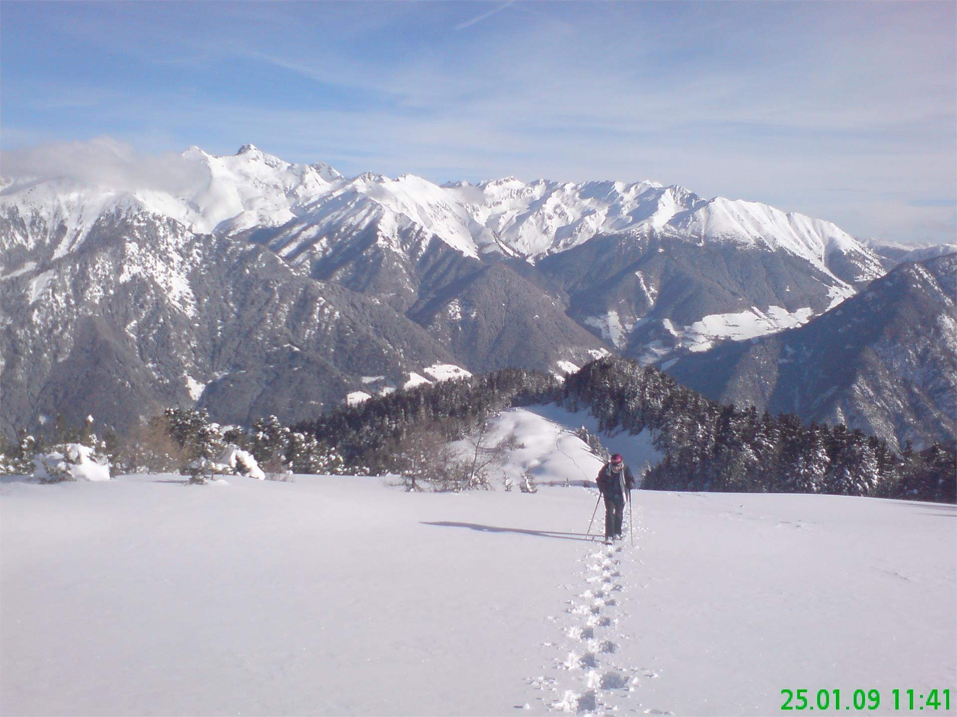 Camminata con le racchette da neve