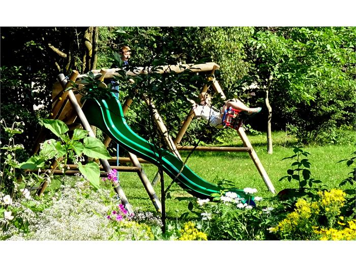 A playground for children in the garden