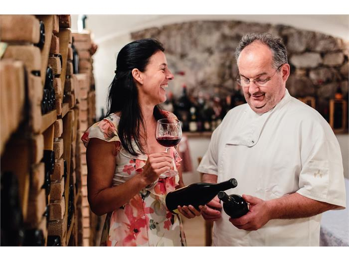 Vine cellar at the Hotel Waldsee