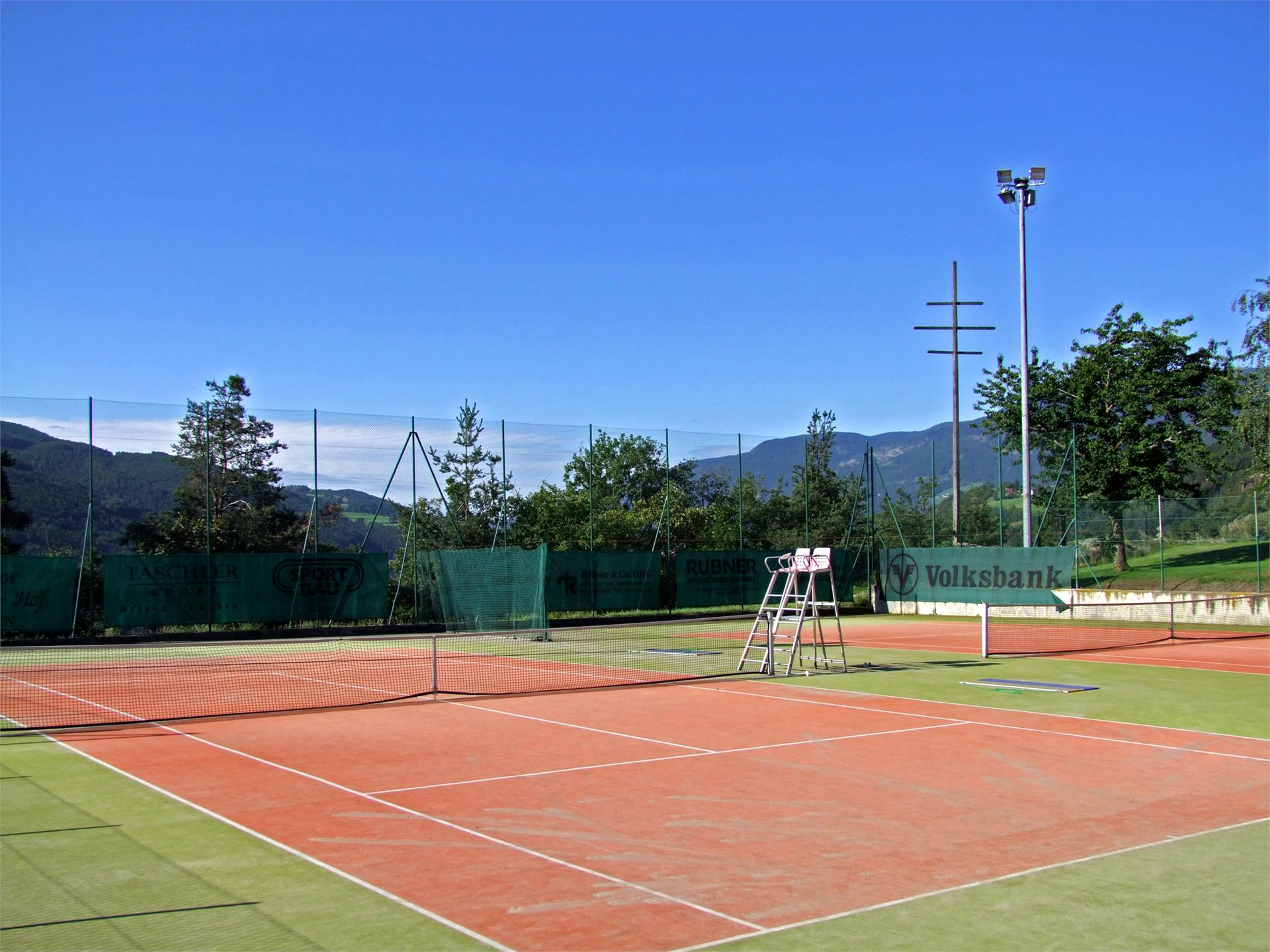 Tennis court in Velturno/Feldthurns