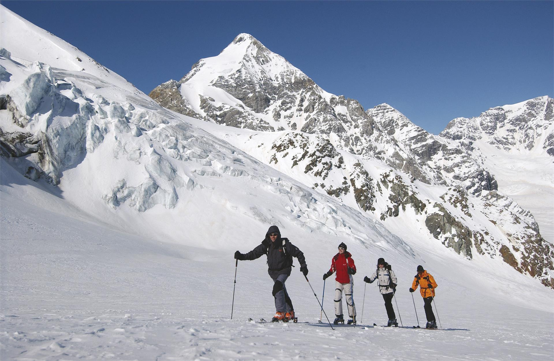 Skitour zum Mittereck in Langtaufers