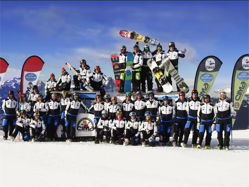 Gruppo della scuaola sci CIMA