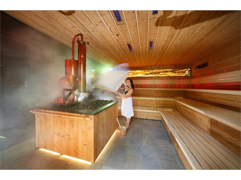 Sauna panoramica esterna