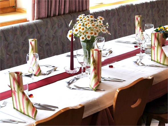 Albergo Alpenrose sala da pranzo