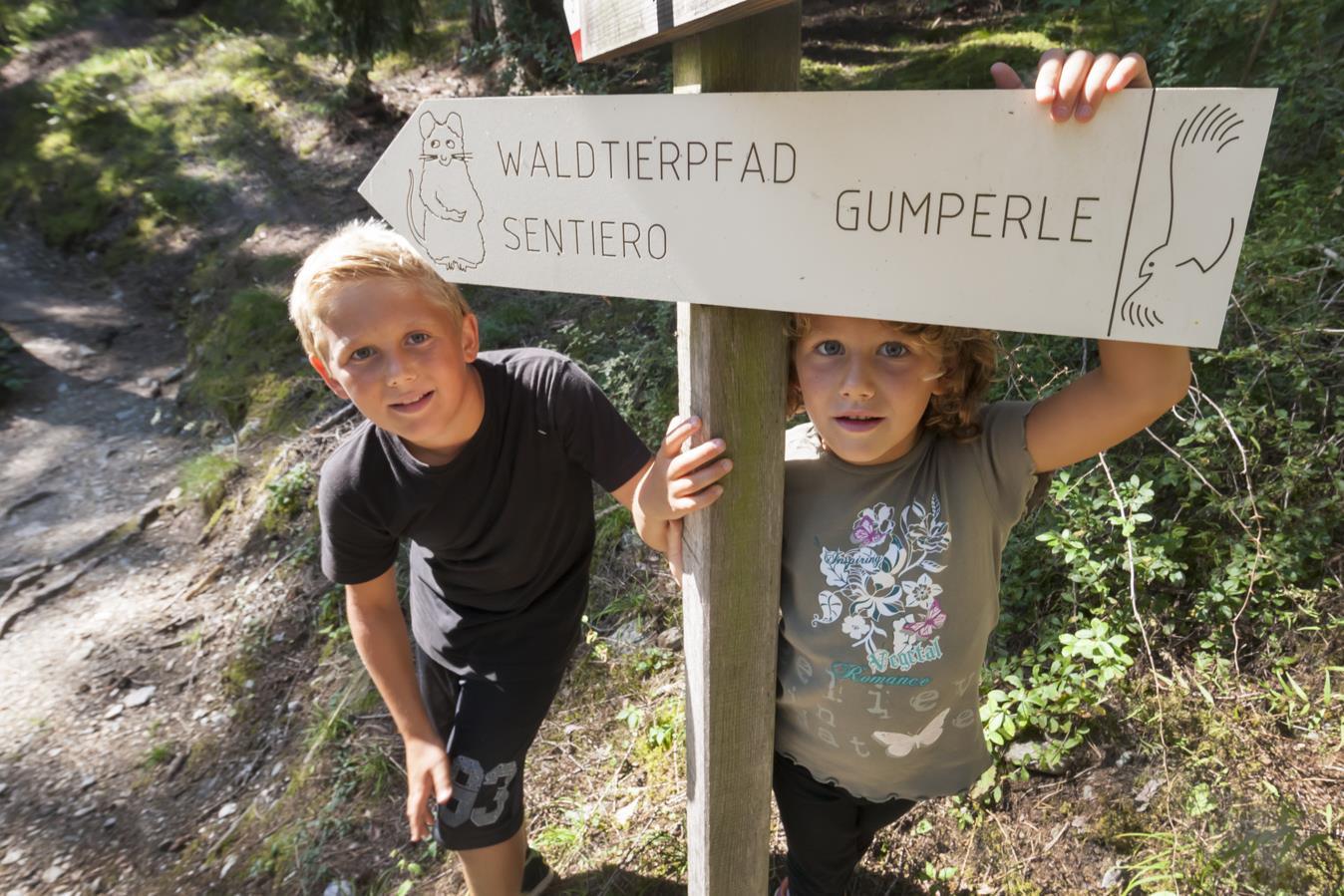 "Family hiking tour on the ""Gumperle"" path"