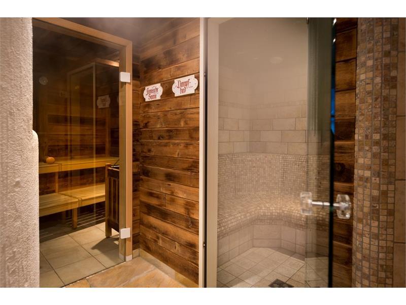 Finnish sauna and steam bath