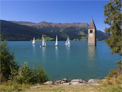 Tower sailing regatta on Resia Lake