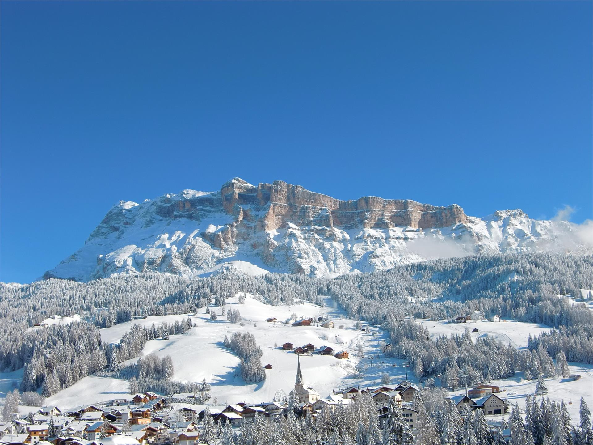 Excursion with snowshoes from San Cassiano to Sas dla Crusc/Santa Croce and Badia
