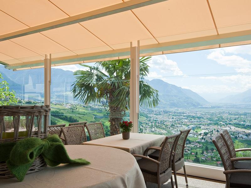 La nuova terrazza con vista panoramica