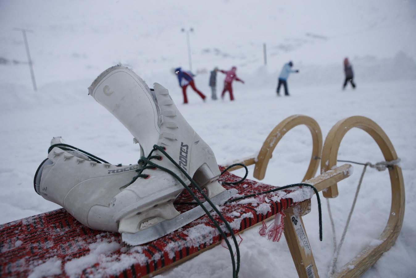 Natural ice rink in Plan/Pfelders in the Passeier Valley