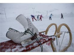Pista di ghiaccio naturale a Plan nella Val Passiria
