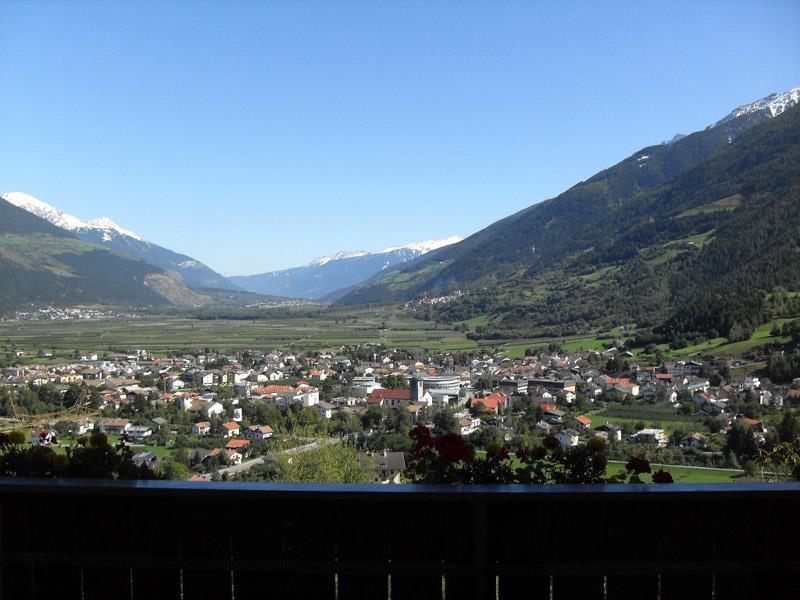 Vista dal balcone a Prato allo Stelvio, Oris e Cengles