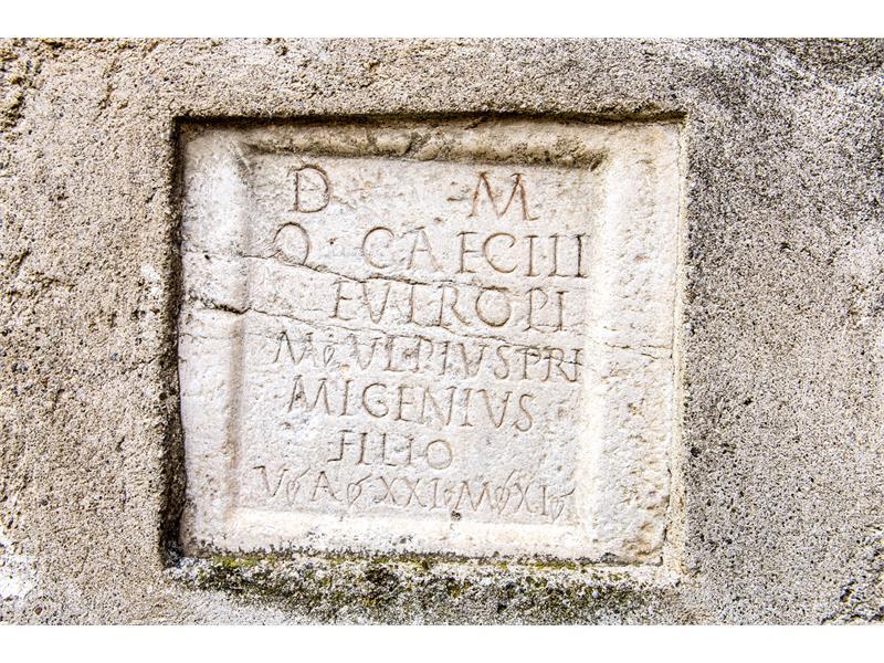 Grave stone from the Roman era - Via Claudia Augusta