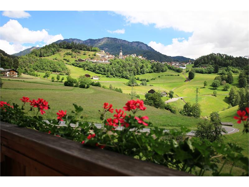 View from balcony to Castelrotto