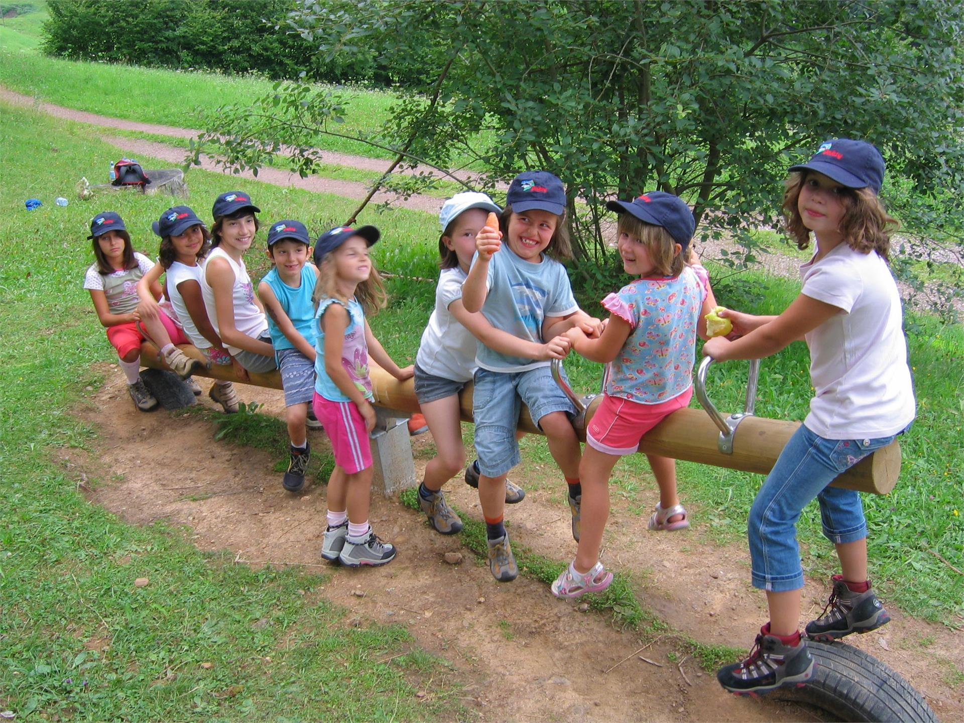 Kinderspielplatz im Wald - Aldein