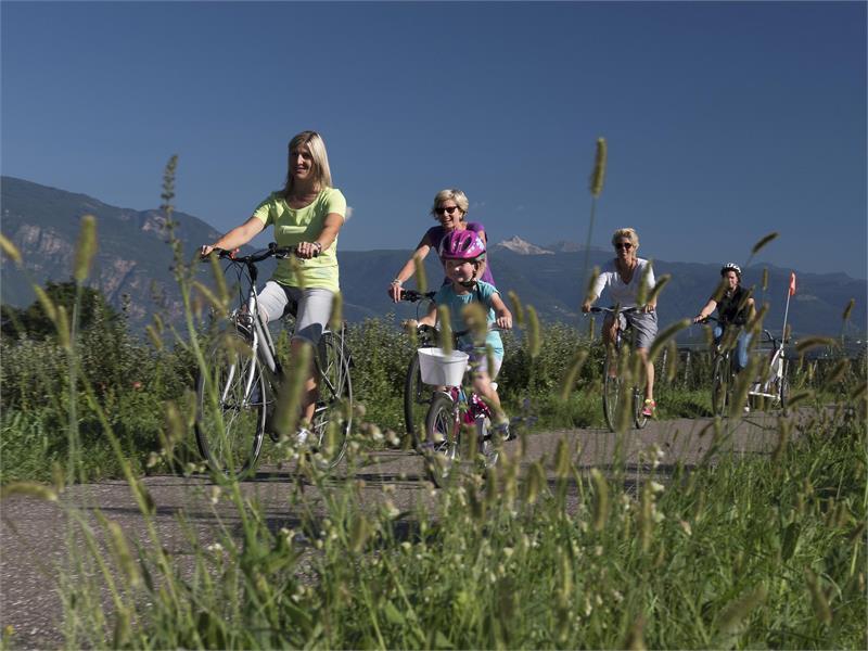 Radfahren am Etsch-Radweg