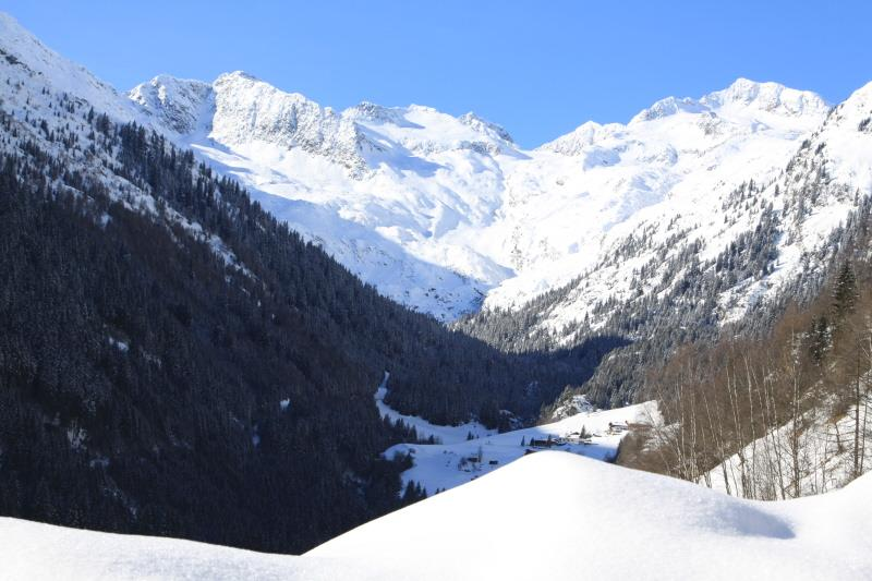 The mountains in the Val di Fleres in the winter