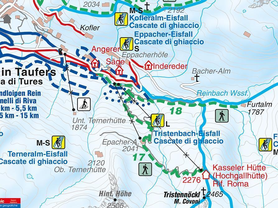 Snowshoe hike Furtalm Riva di Tures/Rein in Taufers
