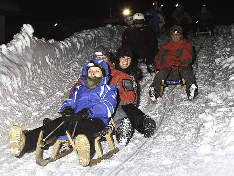 Moonlight tobogganing