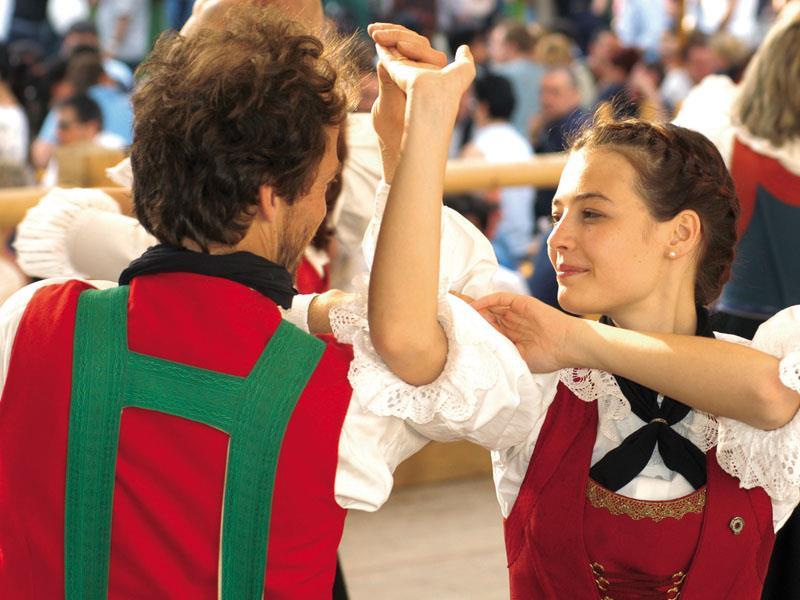 Village festival in San Martin Dolomites